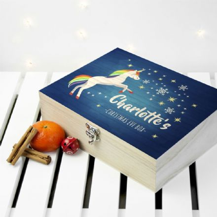 Personalised Festive Unicorn Christmas Eve Box